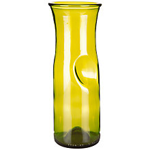 Buy Who's Glass Wine Bottle Recycled Carafe, Green Online at johnlewis.com