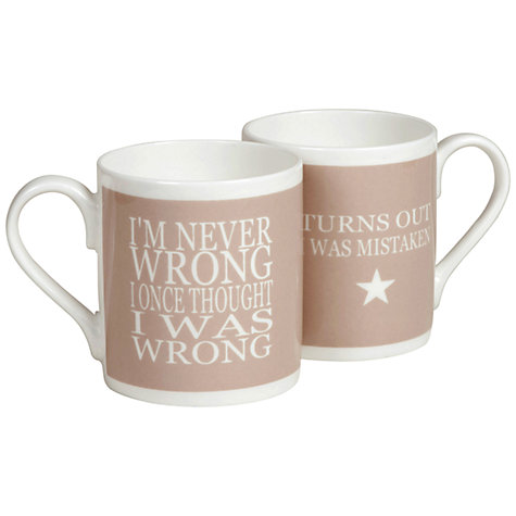 Buy Green and Co. Wrong Mug Online at johnlewis.com