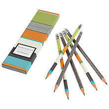 Buy Harlequin Stripe Box Pencils, Multi, Pack of 6 Online at johnlewis.com