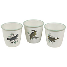 Buy Thoughtful Gardener Enamel Planters, Set of 3 Online at johnlewis.com
