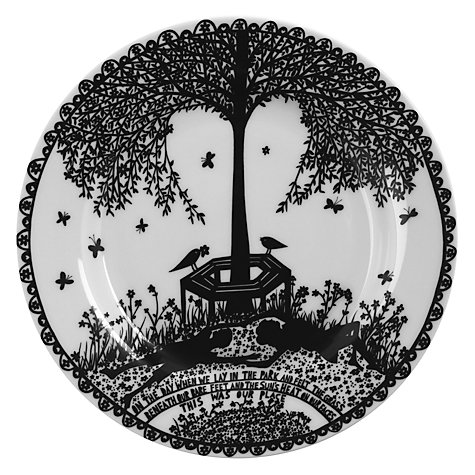 Buy Rob Ryan Tree Seasons Plates, Black, Set of 4 Online at johnlewis.com