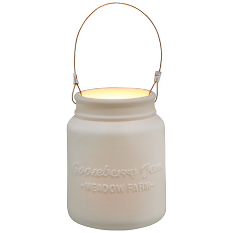 Buy John Lewis Gooseberry Jam Jar Tealight Holder Online at johnlewis.com