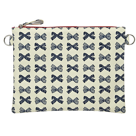 Buy Pink Lining Mum On The Run Changing Pouch, Navy Bows Online at johnlewis.com