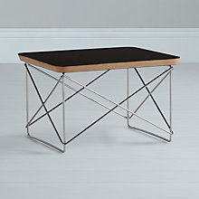 Buy Eames LTR Occasional Side Table, Black Online at johnlewis.com