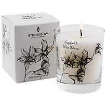 Buy Stoneglow Grapefruit and White Nectarine Scented Candle Online at johnlewis.com
