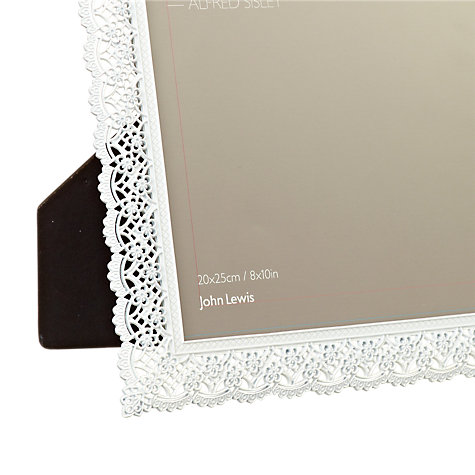 "Buy John Lewis Pewter Lace Photo Frame, 8 x 10"" (20 x 25cm) Online at johnlewis.com"
