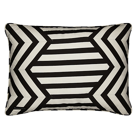 Buy Christian Lacroix for Designers Guild Forum Jais Cushion, Black/White Online at johnlewis.com