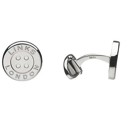 Buy Links of London Button Sterling Silver Cufflinks, Silver Online at johnlewis.com