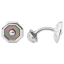 Buy Links of London Sloane Square Mother of Pearl and Sterling Silver Cufflinks, Silver Cuff Online at johnlewis.com