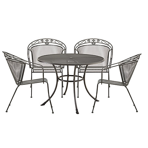Buy John Lewis Henley by Kettler 4 Seater Round Outdoor Dining Set Online at johnlewis.com