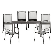 Buy John Lewis Henley by Kettler Rectangular 6 Seater Dining Set with Extending Table Online at johnlewis.com