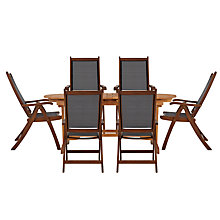 Buy John Lewis Naples 6 Seater Extending Outdoor Dining Set with Reclining Chairs Online at johnlewis.com