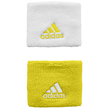 Buy Adidas Tennis Wristband, Pack of 2, Yellow/White Online at johnlewis.com