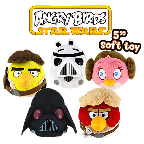 "Buy Angry Birds Star Wars 5"" Plush Toy, Assorted Online at johnlewis.com"