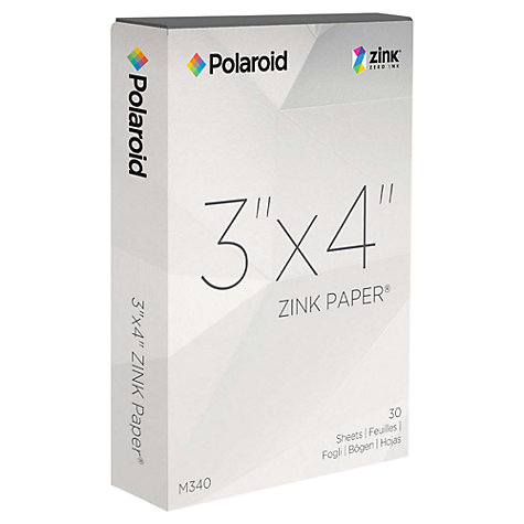 Buy Polaroid PoGo 3 x 4 Inch ZINK Photo Paper, 30 Pack Online at johnlewis.com