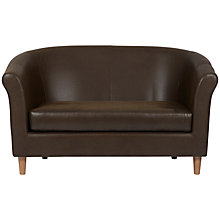 Buy John Lewis Flora Leather Snuggler, Tring Chocolate Online at johnlewis.com
