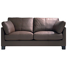 Buy John Lewis Ikon Medium Sofa, Mocha Dakota Leather Online at johnlewis.com