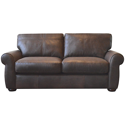 Buy John Lewis Madison Semi-Aniline Medium Leather Sofa, Colorado Online at johnlewis.com
