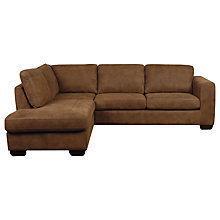 Buy John Lewis Felix Leather LHF Chaise Corner Sofa Online at johnlewis.com