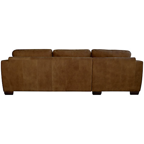 Buy John Lewis Felix Leather LHF Corner Chaise End Sofa Online at johnlewis.com