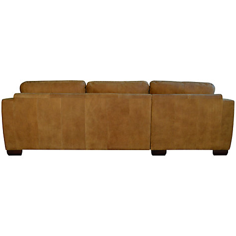 Buy John Lewis Felix Leather LHF Chaise End Sofa, Masai Online at johnlewis.com