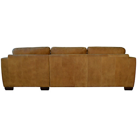 Buy John Lewis Felix Leather RHF Corner Sofa, Dark Legs Online at johnlewis.com