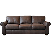 Buy John Lewis Madison Semi-Aniline Grand Leather Sofa, Colorado Online at johnlewis.com