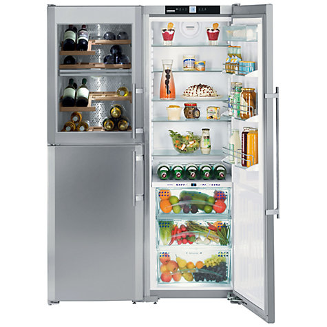 Buy Liebherr SBSes7165 Side-by-Side Wine Cooler Fridge Freezer, Stainless Steel Online at johnlewis.com