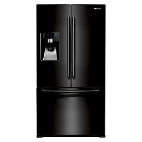 Buy Samsung RFG23UEBP1 3-Door American Style Fridge Freezer, Gloss Black Online at johnlewis.com