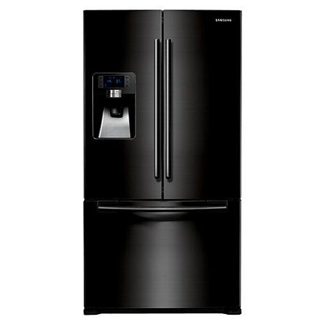 Samsung RFG23UEBP1 3-Door American Style Fridge Freezer, Gloss Black - £130 CASHBACK