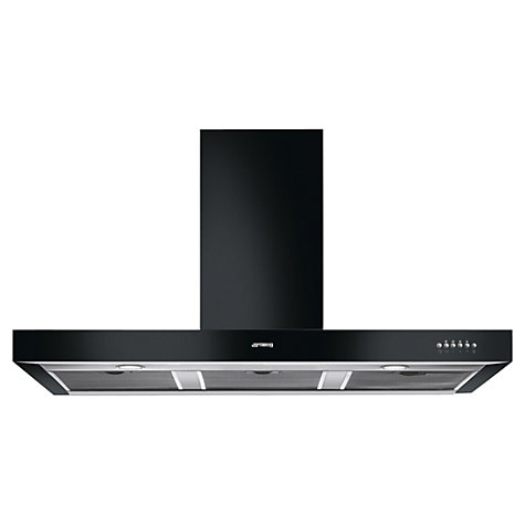 Buy Smeg KSE110BL Chimney Cooker Hood, Gloss Black Online at johnlewis.com