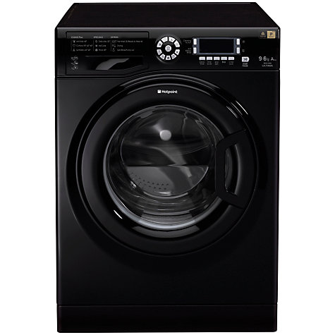 Buy Hotpoint WDUD9640K Washer Dryer, 9kg Wash/6kg Dry Load, A Energy Rating, 1400rpm Spin, Black Online at johnlewis.com