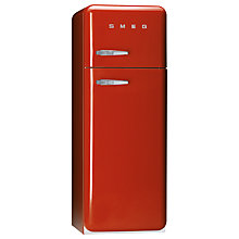 Buy Smeg FAB30QR Fridge Freezer, A+ Energy Rating, 60cm Wide, Red Online at johnlewis.com