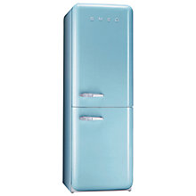 Buy Smeg FAB32QAZ Fridge Freezer, A+ Energy Rating, 60cm Wide, Pastel Blue Online at johnlewis.com