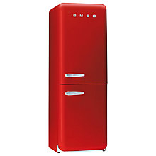 Buy Smeg FAB32QR Fridge Freezer, A+ Energy Rating, 60cm Wide, Red Online at johnlewis.com