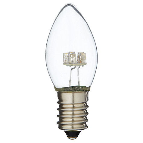Buy White Rabbit 0.5W SES Replacement LED 24.V Candle Bulb, Clear Online at johnlewis.com