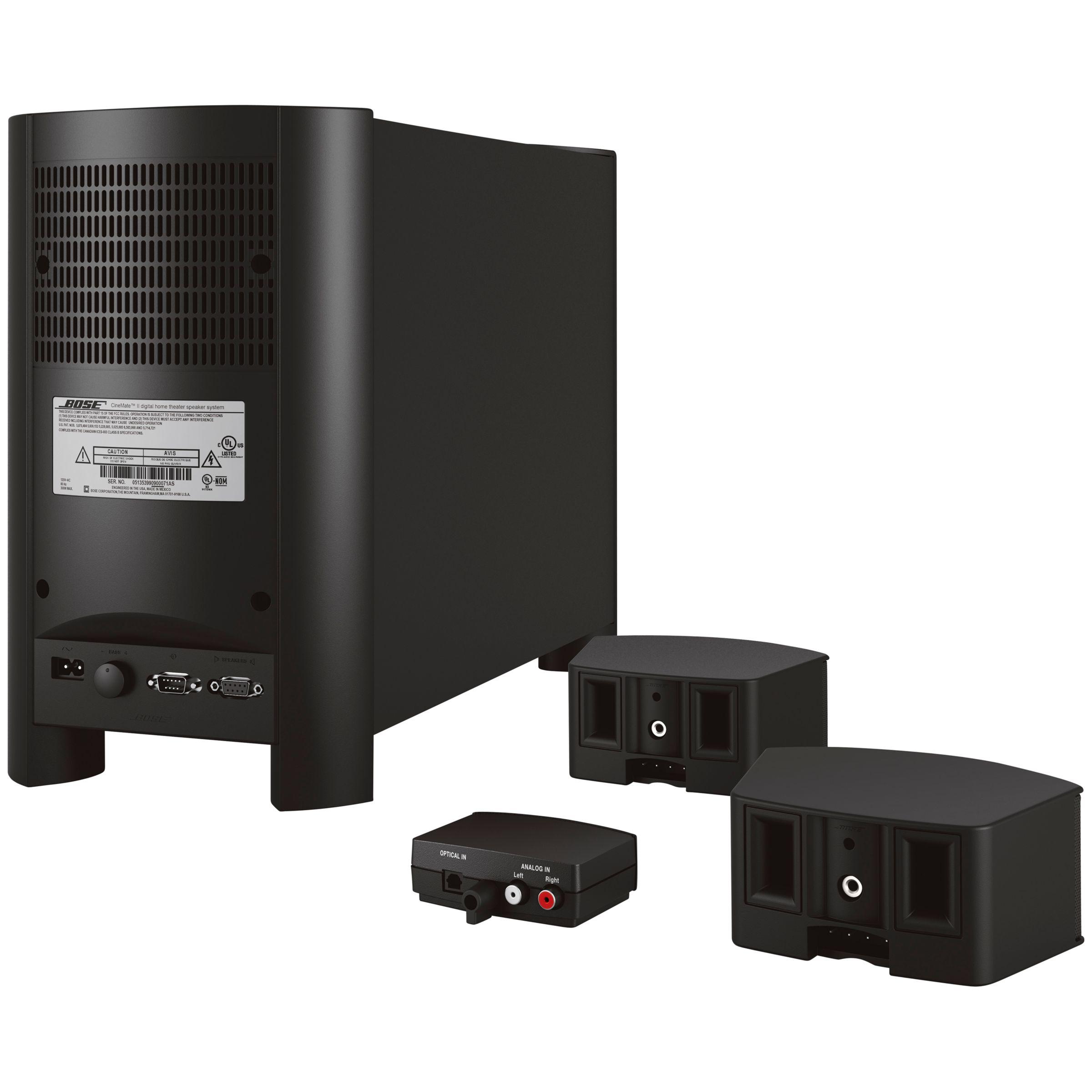 buy bose cinemate gs ii 2 1 home cinema speaker system. Black Bedroom Furniture Sets. Home Design Ideas