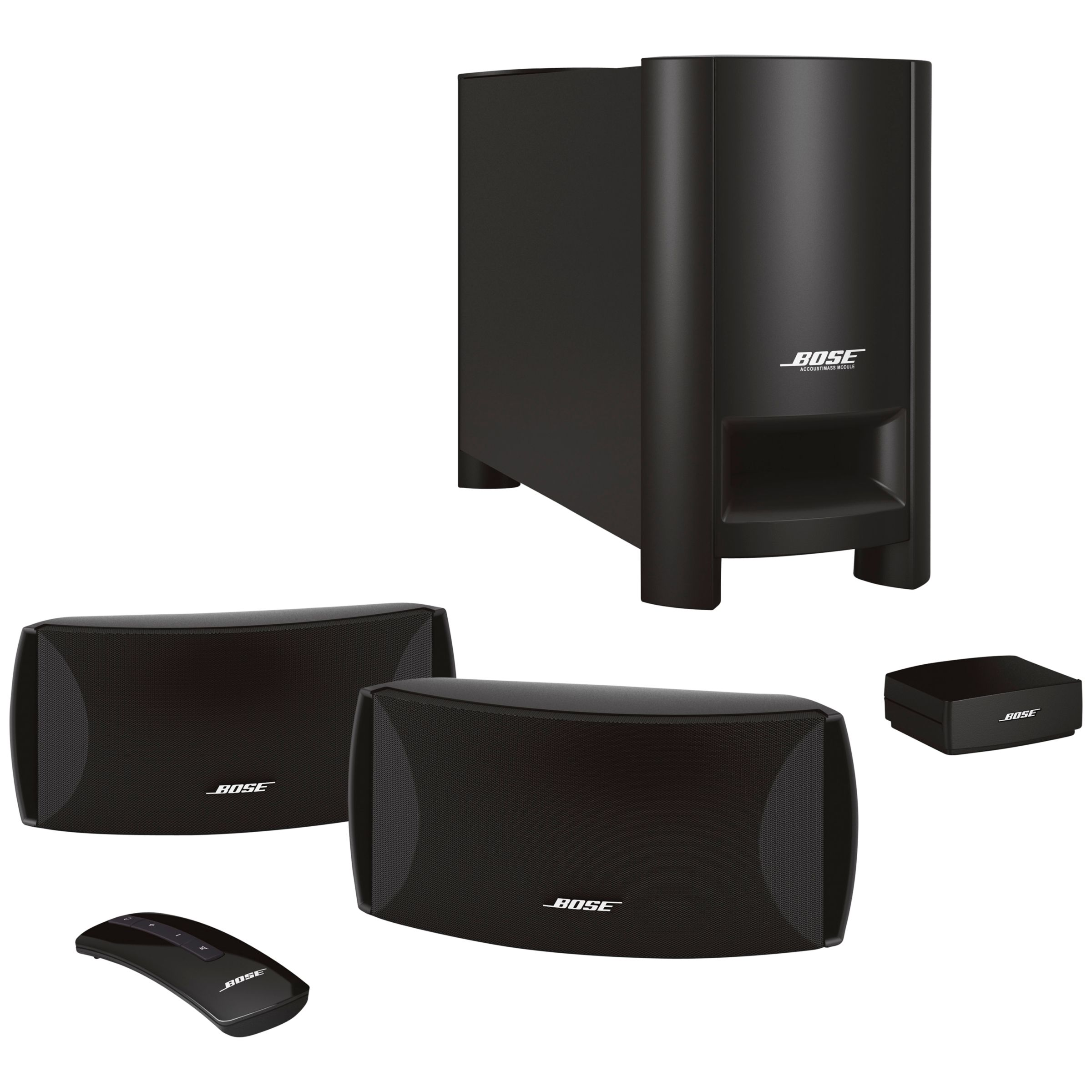 bose cinemate ii 2 1 home cinema speaker system with philips bdp2980 12 3d blu ray dvd player. Black Bedroom Furniture Sets. Home Design Ideas