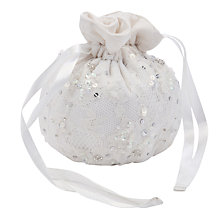 Buy John Lewis Girl Bridesmaid's Lace Pouch Bag, Ivory Online at johnlewis.com