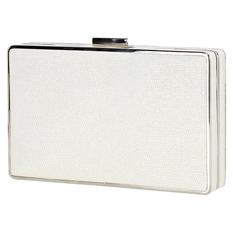 Buy Warehouse Deco Box Sparkle Clutch Handbag, Ecru Online at johnlewis.com