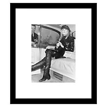 Buy Getty Image Gallery Brigitte Bardot In Leather Framed Print, 57 x 49cm Online at johnlewis.com