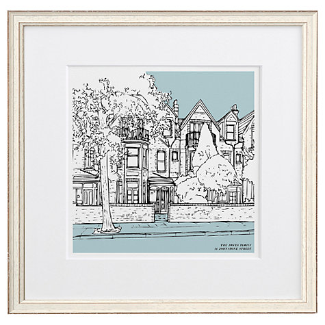 Buy Letterfest Personalised House Illustration, Chalky White Frame, 44.8 x 44.8cm Online at johnlewis.com