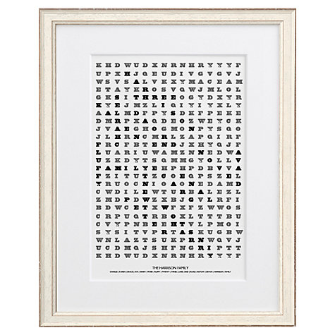 Buy Letterfest Personalised Family Word Search Framed Print, 44.8 x 56.8cm Online at johnlewis.com