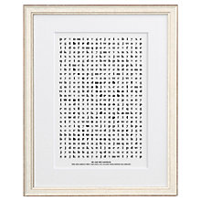 Buy Letterfest Personalised Wedding Word Search Framed Print, 44.8 x 56.8cm Online at johnlewis.com
