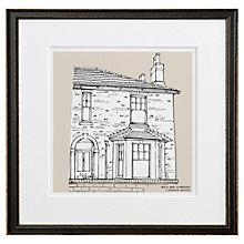 Buy Letterfest Personalised House Illustration, Black Frame, 44.8 x 44.8cm Online at johnlewis.com