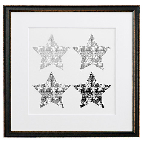 Buy Letterfest Personalised Typographic Stars, 44.8 x 44.8cm Online at johnlewis.com