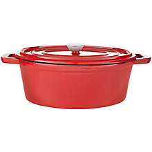 Buy House by John Lewis Cast Iron Deep Oval Casserole, 29cm Online at johnlewis.com