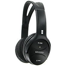 Buy KitSound Wireless On-Ear Headphones with Microphone, Black Online at johnlewis.com