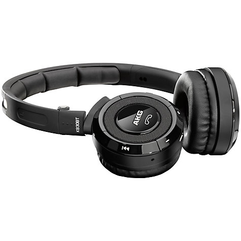 Buy AKG K830 BT On-Ear Wireless Headphones with Microphone, Black/Silver Online at johnlewis.com