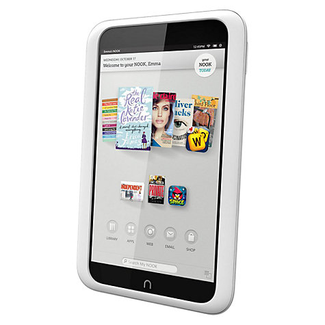 "Buy NOOK HD Tablet, TI OMAP, 7"", Wi-Fi, 16GB, Snow Online at johnlewis.com"